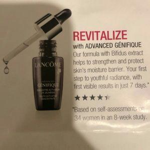 Lancôme Genifique moisture gel and Lipstick